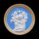 "[S98 DEC-N] 6"" Italian Della Robbia ceramic Madonna with child (Virgin of Boccadirio) Italy"