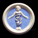 "[S140 N] 4"" Della Robbia ceramic BABY IN SWADDLING CLOTHES Hand made in Italy"