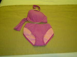 sz Large 2 piece swimwear Violet