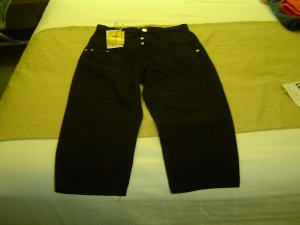 sz 5/6 Black Jean Shorts