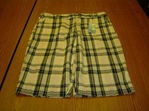 NWT sz 8 Womens IZOD Linen Shorts Pink White and Black