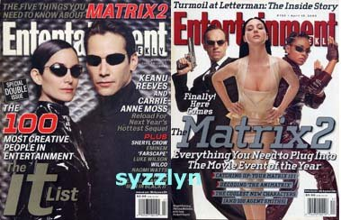 2x Entertainment Weekly mag KEANU REEVES Matrix NL