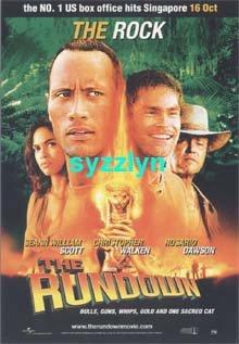 Lot 2 Rundown The Rock Dwayne Johnson Movie Postcard