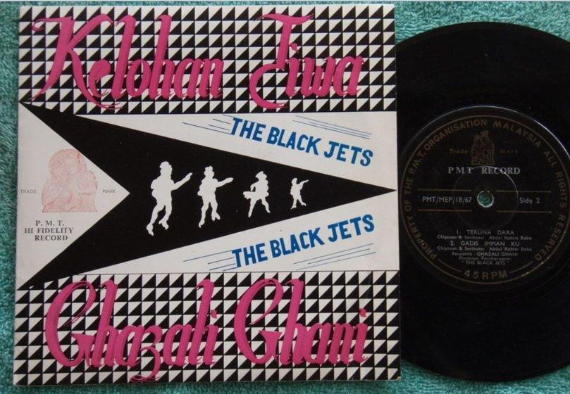 SOLD-Ghazali Ghani & THE BLACK JETS Malay Garage Freak Beat EP 1867 (176)