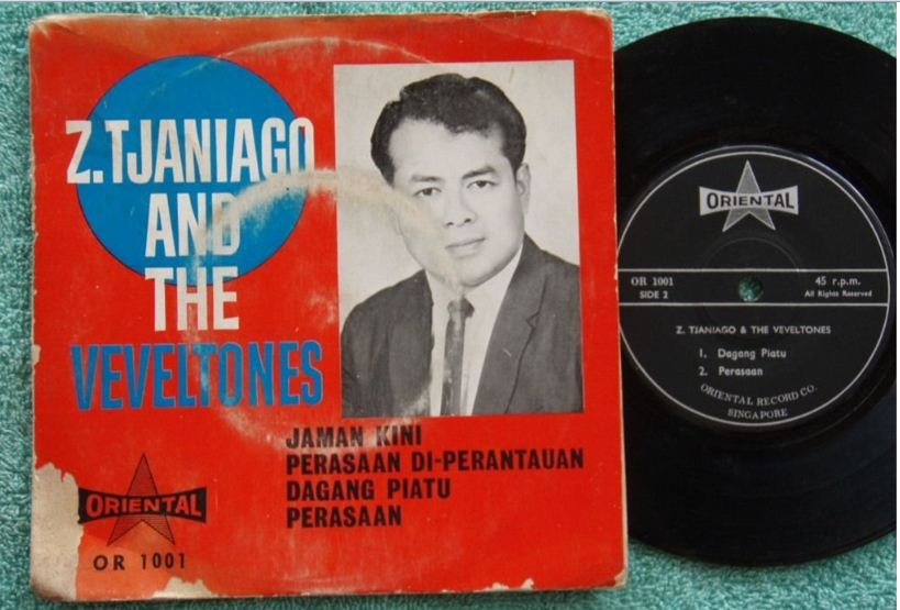 Singapore Tjaniago & The VEVELTONES Malay a gogo pop EP 1001 (168)
