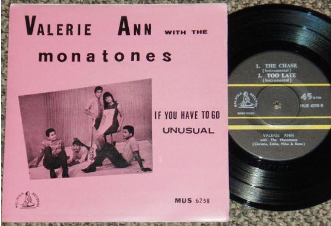 60's Malaysia Malay Ann & The Monatones English EP #6258 (84)