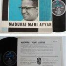 1967 Tamil Telugu India MADURAI MANI AYYAR LP #6010 (58)