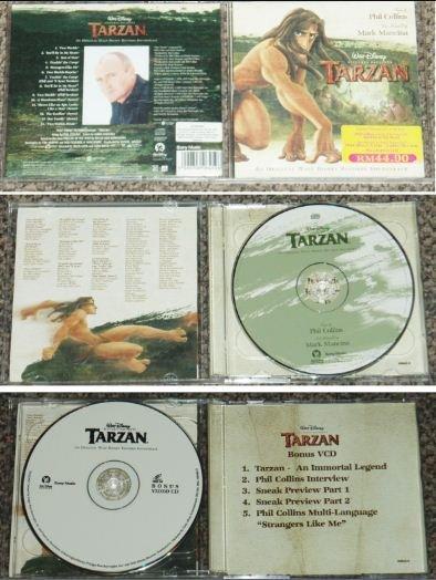 Malaysia Phil Collins Disney TARZAN + bonus VCD & CD 606459 (14)