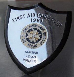 1961 Malaya St John Ambulance Brigade Winner team badge C-R6