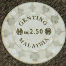 Malaysia Genting Gambling casino token chip $2.50-S1