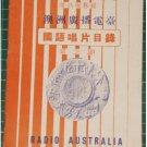 50's Singapore Radio Australia Chinese songs list vol.3-S1