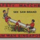3 Matchbox label-Singapore Eagle,Lifeguard,See Saw-#MA3-S7