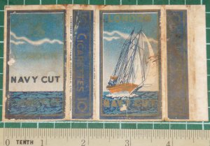 very old cigarettes pack-LONDON SHIP #13-S1