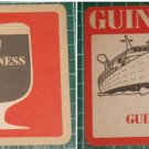old Malaysia GUINNESS coasters Ship Glass etc x 3 #S7
