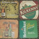 4 mix Malaysia beer coasters #S-S6