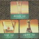 Malaysia 3 Carlsberg Beer paper coasters #F-S6