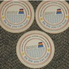 3 Malaysia shipping MISC paper coasters #R-S6