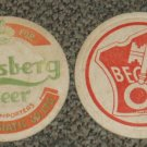 vintage Carlsberg and Beck's Beer coasters #P-(Z1)