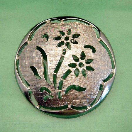 SARAH COVENTRY Vintage Flowers Large Brooch Pin Pendant