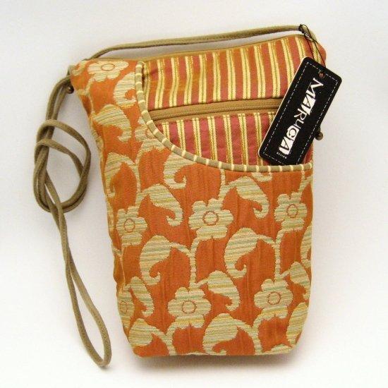 Maruca City Girl Handbag Purse Bag Orange Beige Yellow India Spice