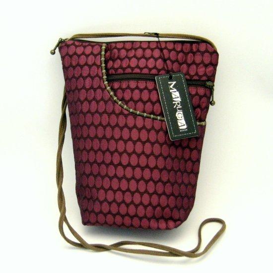 Maruca City Girl Handbag Purse Bag Eggs Plum Purple Pink Fabric