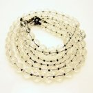 EXPRESS Vintage Necklace 3 Multi Strand Crystal Beads Striking Pretty Sparkling