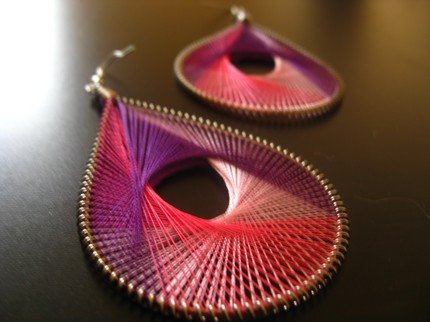 T.H.R.E.A.D Collection PLUM Earrings