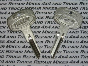 2 Peterbilt truck tractor factory OEM key blank blanks with the Pete logo