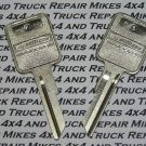 2 Freightliner Medium Duty truck tractor key blanks keys blank factory OEM