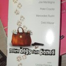 VHS GENTLY USED VIDEO MORE BONES THAN DOGS STARRING MERCEDES RUEHL JOE MANTEGNA BLACK COMEDY B53