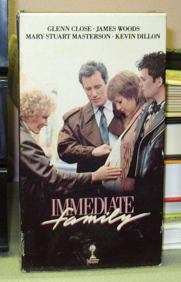 IMMEDIATE FAMILY VHS VIDEO MOVIE STARRING GLENN CLOSE JAMES WOODS GENTLY USED (B37)
