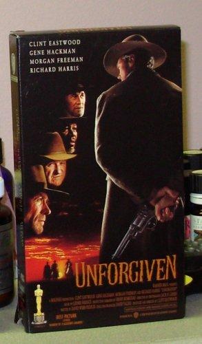 UNFORGIVEN VHS MOVIE STARRING CLINT EASTWOOD GENE HACKMAN MORGAN FREEMAN WESTERN ACTION (B43)