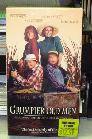 GRUMPIER OLD MEN VHS STARRING JACK LEMMON ANN MARGARET WALTER MATTHAU SOPHIA LOREN COMEDY (B49)