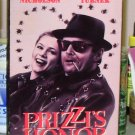 PRIZZIS HONOR VHS STARRING JACK NICHOLSON KATHLEEN TURNER WILLIAM HICKEY BLACK COMEDY (B49)