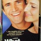WHAT WOMEN WANT VHS STARRING MEL GIBSON HELEN HUNT MARISA TOMEI COMEDY (B47)