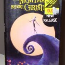 TIM BURTONS THE NIGHTMARE BEFORE CHRISTMAS VHS MOVIE STARRING ANIMATION (B52)