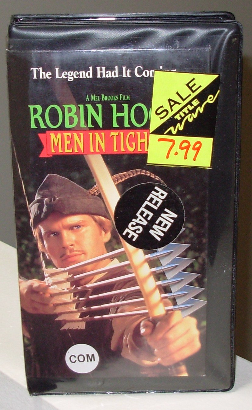 ROBIN HOOD MEN IN TIGHTS VHS MOVIE STARRING CARY ELWES RICHARD LEWIS AMY YASBECK MEL BROOKS COMEDY