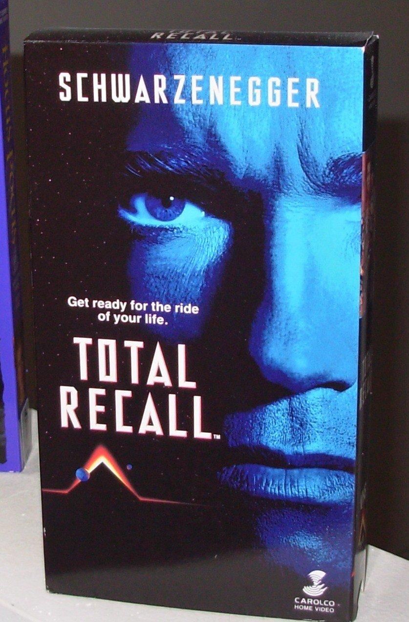 TOTAL RECALL VHS MOVIE STARRING ARNOLD SCHWARZENEGGER SHARON STONE SCI FI FANTASY