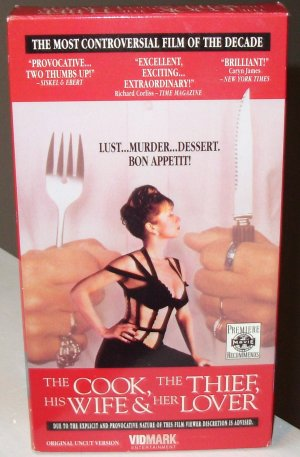 THE COOK THE THIEF HIS WIFE AND HER LOVER VHS MOVIE WITH HELEN MIRREN MICHAEL GAMBON TIM ROTH (B53)