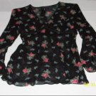 Ralph Lauren Black & Floral Tunic Top - Size S