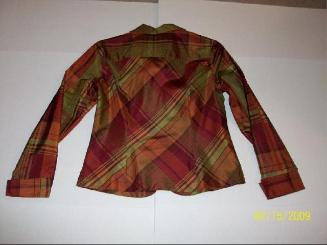 Coldwater Creek Plaid Top - Size PS