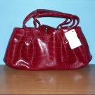 Red Alligator Design Petite Handbag