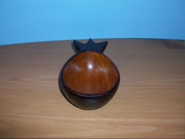 Dark Wood Pineapple Shape Mini Bowl