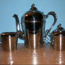 Cromwell Chromium Coffee Pot, Sugar and Cream Set