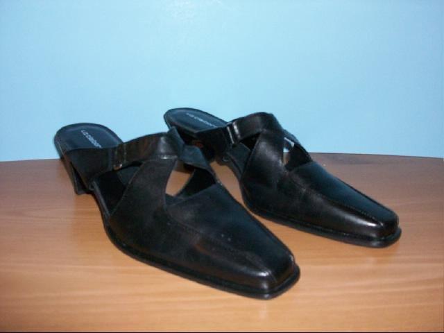 Liz Claiborne Black Slides - Size 8 1/2 M