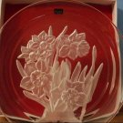 Hoya Museum Crystal Flower of the Month Plate - January