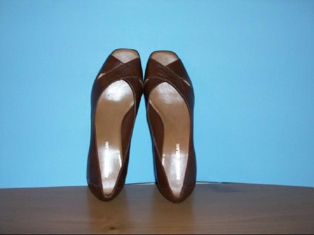 Antonio Melani Brown Wedge Shoes - Size 8 1/2 M