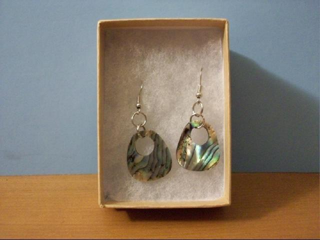 Natural Abalone Shell Mop Pierced Earrings