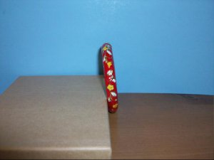Lovely Cloisonne Red,White and Yellow Bangle Bracelet