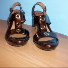 "Brown Patent ""Sofft"" Wedge Shoe - Size 10 M"